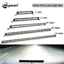 Led-Light-Bar Off-Road Combo Trucks Beam Led 10-38inch Single-Row 4X4 Nlpearl for UAZ