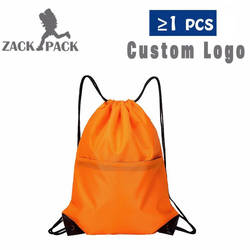 Zackpack хлопок шнурок на заказ LogoTraining холст небольшой рюкзак для девочек школьная сумка Спортивные водонепроница Рюкзак Mochila DB8
