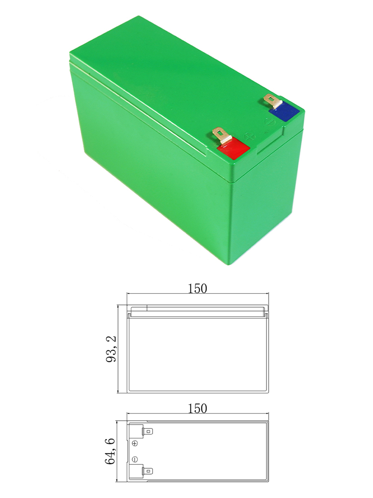 Li-Ion Case Battery-Box 18650 Abs-Plastic 10ah/15ah Size 12V L150--W65--H94mm