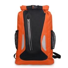 цена на Outdoor River Trekking Bag Dry Sack Bag Double Shoulder Straps Water Pack Swimming Backpack Waterproof Bag for Drifting Kayaking