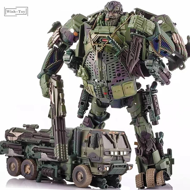 التحول روبوت WJ M02 التمويه الدخان المخبر نماذج من الشاحنات عمل الشكل سبيكة نموذج جمع اللعب الهدايا