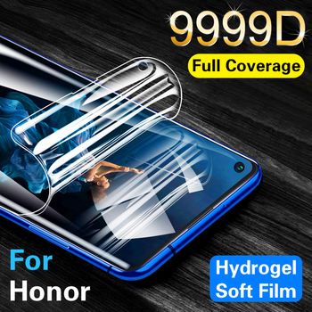 Перейти на Алиэкспресс и купить Защита экрана для Honor 20 Pro 10 Lite 9999D Гидрогелевая пленка Honor 9 10 Lite V20 Huawei Mate 30 Pro защитная пленка не стекло