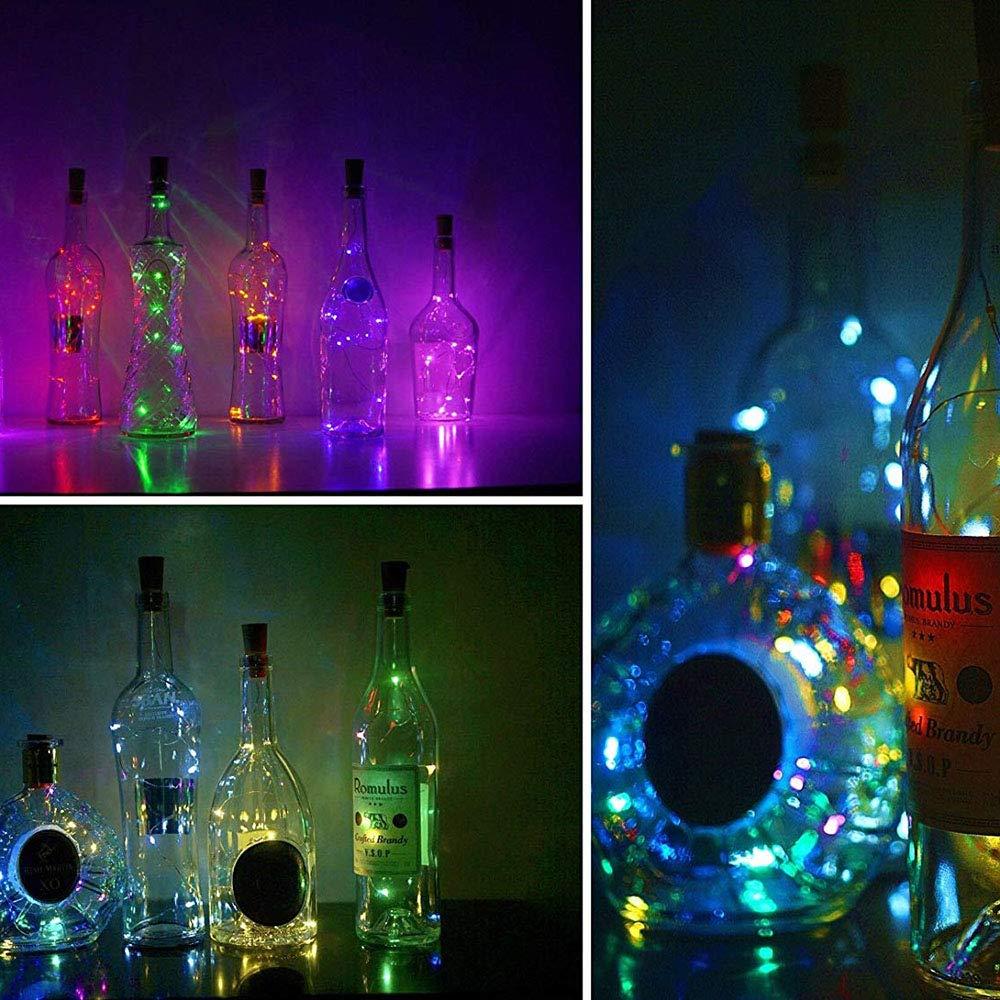 10 20 LEDs Wine Bottle Lights Cork Battery Powered Garland DIY Christmas String Lights For Party Halloween Wedding Decoracion
