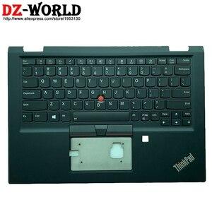 Novo/orig eua inglês teclado retroiluminado com wlan escudo c capa palmrest caso superior para lenovo thinkpad x390 yoga portátil 02hl645