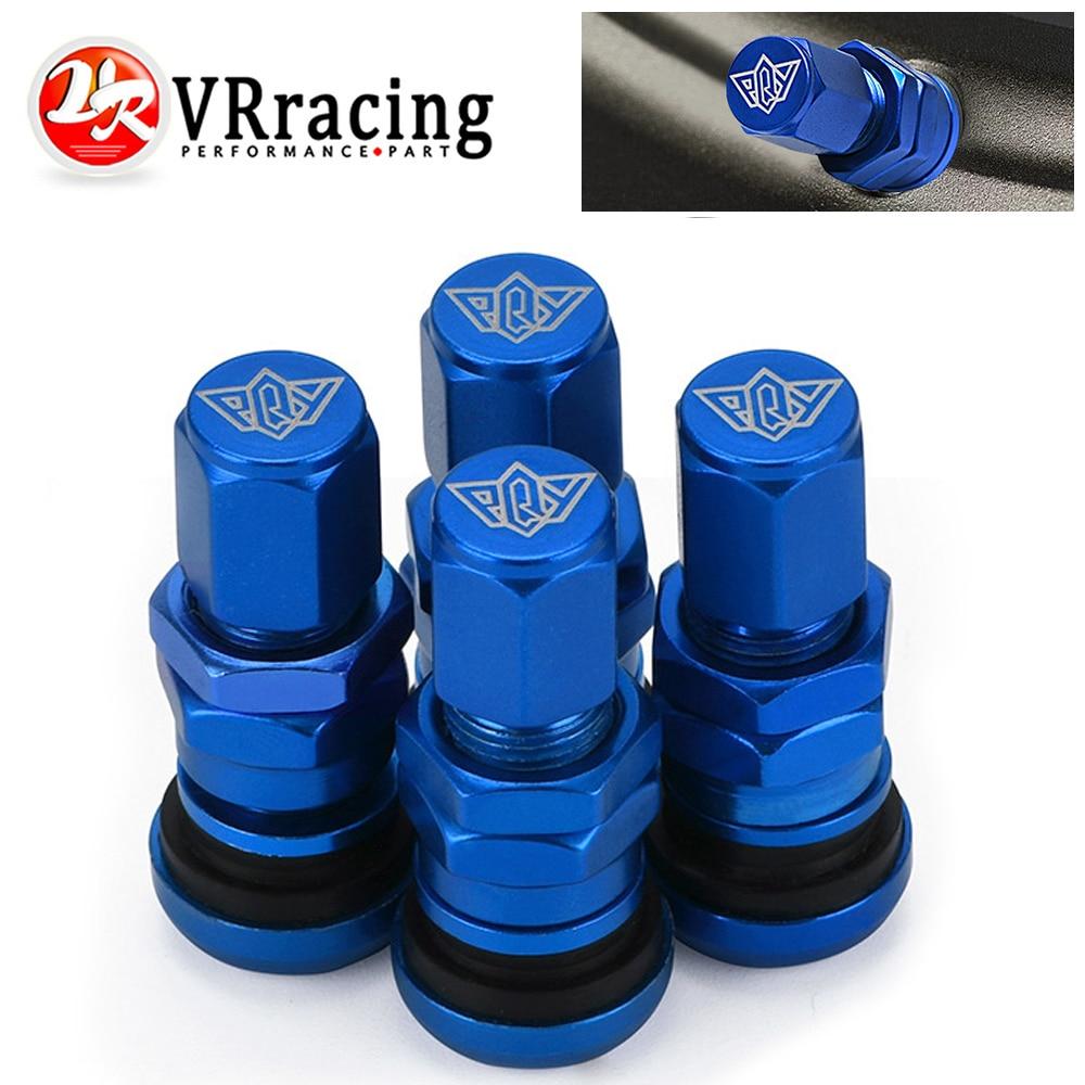 4pcs TR48E Bolt-in Auto Car Tubeless Wheel Tire Valve Stems Dust Caps Blue、2-JT