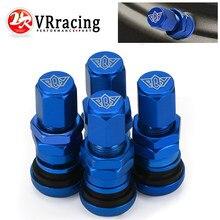 4 pçs/set universal roda do carro da motocicleta sem câmara de ar válvula do pneu tampas para haste da válvula de pneu alumínio metal haste válvula ar VR-WR11