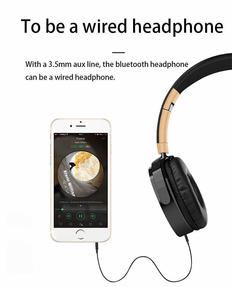 Lvcard 02 HIFI سماعات ستيريو سماعة رأس مزودة بتقنية البلوتوث سماعة الموسيقى دعم FM/TF وضع سماعة رأس بمايكروفون لأجهزة الكمبيوتر/الهواتف