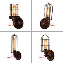 ヴィンテージ工業ウォールライト、錆壁ランプ、 светильник бра 、ロフト壁燭台照明器具、 180°Adjustment 、ランプシェードアップとダウン