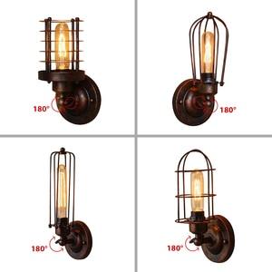 Image 1 - Luz de pared Industrial Vintage, lámpara de pared de óxido, echo de moda, accesorios de iluminación para Loft, ajuste de 180 °, pantalla arriba y abajo