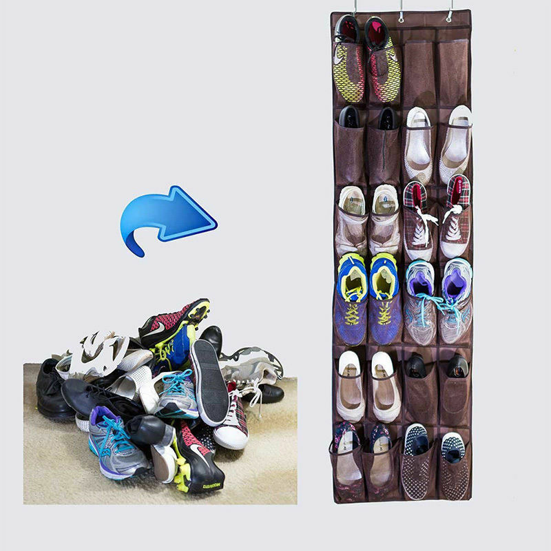 Space Saving Door Hanging Organizer with 24 Pockets for Storage of Shoes Safely 1