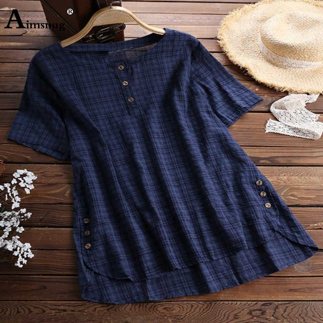 2020 Plus size 4xl 5xl Women Tops Patchwork Fake Buttons Solid Casual Blouses Irregular Female Summer Loose Blusas Shirts 3