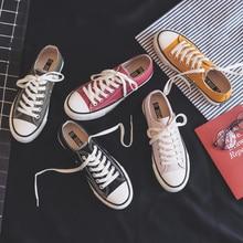 Кеды женские однотонные, холщовые классические кроссовки, плоская подошва, Повседневная модная обувь, карамельные цвета
