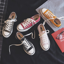Woman Shoes Sneakers New Fashion Women Shoes Casual Flats Solid Canvas Classic Solid Candy Color Women Casual Shoes Sneakers