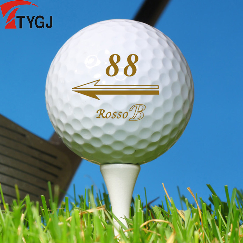 TTYGJ New Golf Balls Double Layer (long Distance) Synthetic Rubber Elastic Good Beginners Practice Game Ball Super Stable