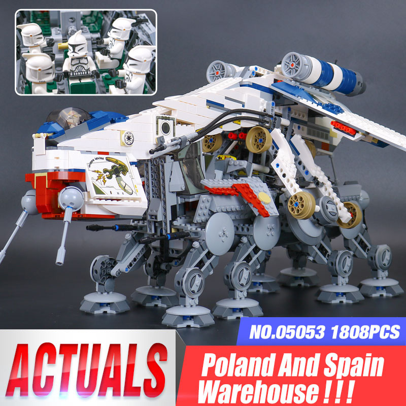 DHL 05053 Star Toys Wars Compatible With <font><b>10195</b></font> Republic Dropship with AT-OT Walker Model Building Blocks Kids Gifts image