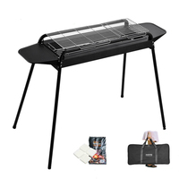 Household Grill Large Thicken Outdoor Wild Charcoal Grill Full Carbon BBQ Tool