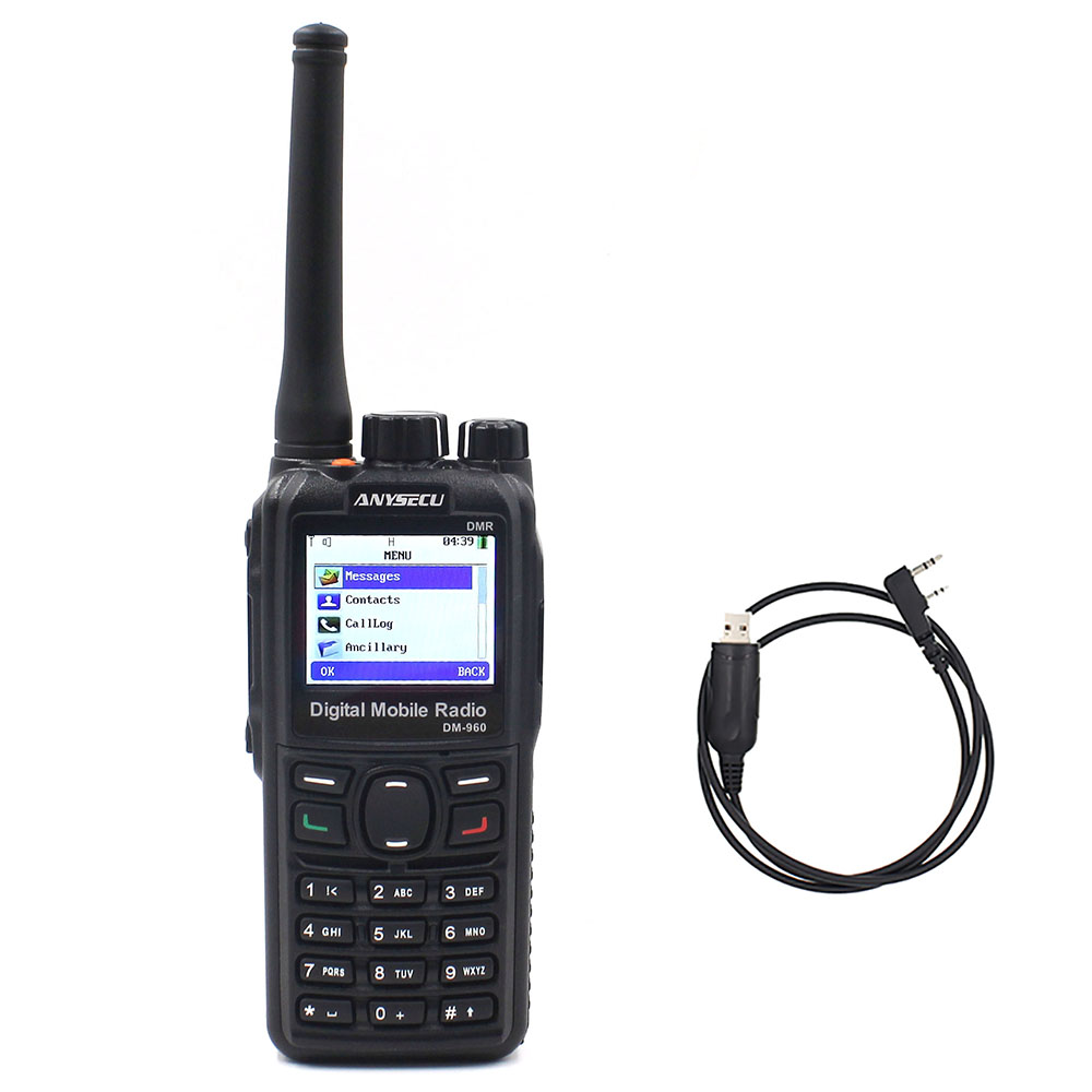 +cable ! Dual Mode TDMA Digital/Analog DMR Radio Anysecu DM-960 UHF 3000mAh Compatible With MOTOTRBO Better Than TYT MD380/MD390