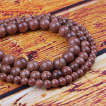 Sands Natural Stone Bead Round Loose Spaced Beads 15 Inch Strand 4/6/8/10/12mm For Jewelry Making DIY Bracelet