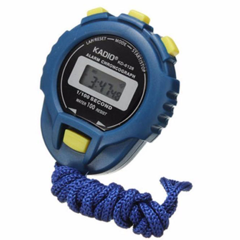 High Precision LCD Digital Professional Handheld Handheld Alarm Sports Stopwatch Timer Stop Watch With String Running Football