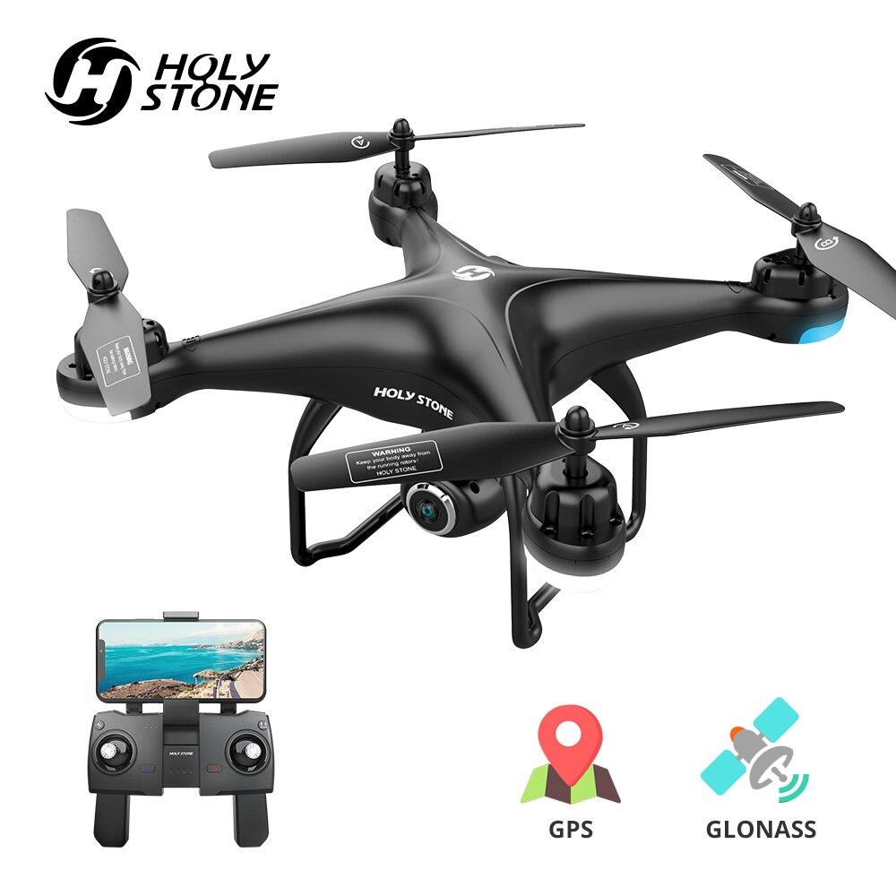 Święty kamień HS120D GPS RC Drone profesjonalne FPV kamera HD 1080P drony za mną GPS Glonass quadrocoptera Wifi RC helikopter w Helikoptery RC od Zabawki i hobby na  Grupa 1