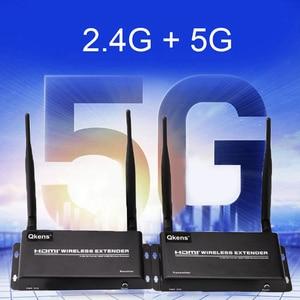 Image 3 - 5GHz Wireless Transmission HDMI Extender Transmitter Receiver Video Converter 100M 200M Remote Transfer HDMI Sender DVD PC To TV