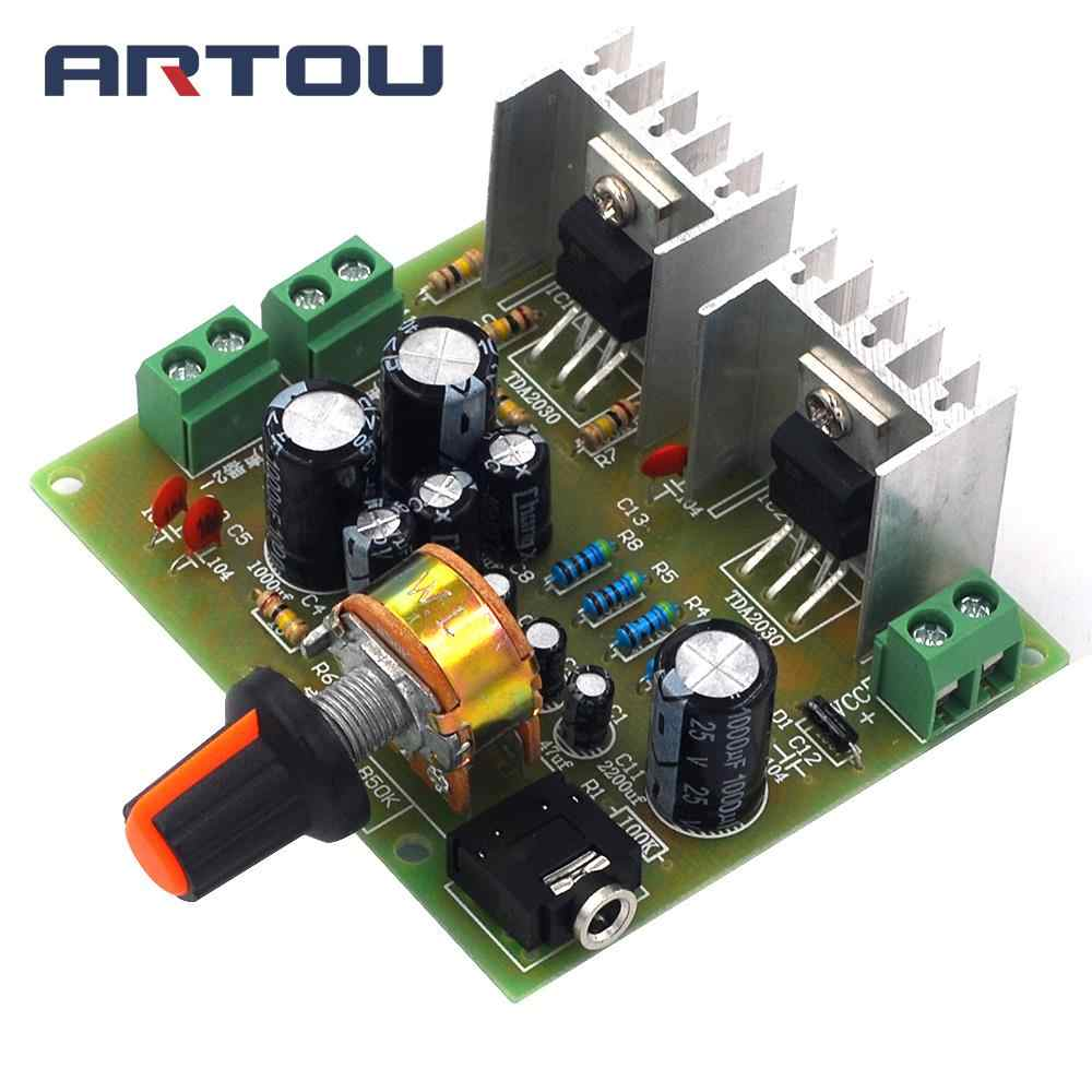 2.0 dual channel pure achter stage TDA2030A audio DIY eindversterker board enkele power 12V diy kit