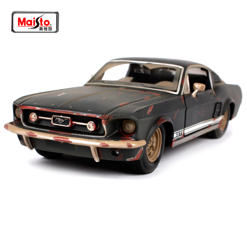 <font><b>1:24</b></font> 1967 <font><b>FORD</b></font> <font><b>Mustang</b></font> GT Old Vintage Diecast Model Car Toy for Gift image