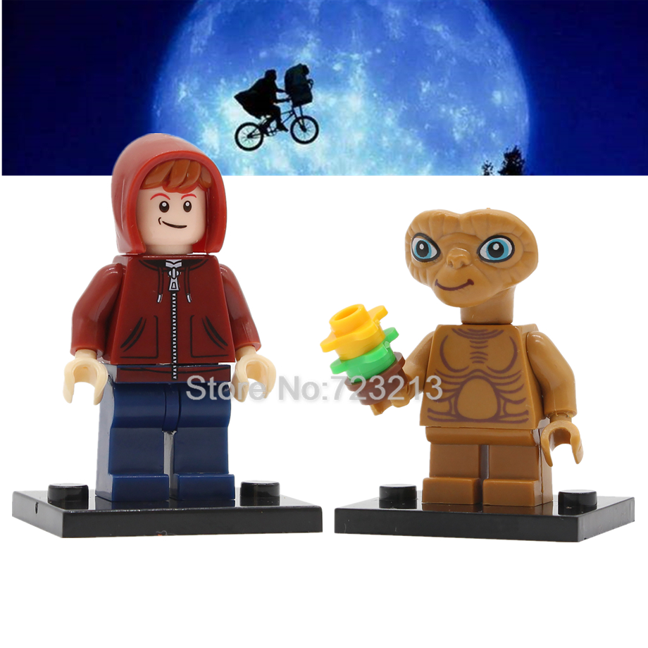 Single Sale Classic Movie ET Figure Boy Elliott E.T. Building Blocks Set Model Kits Bricks Education Toy For Children Legoing