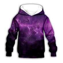 Худи с 3d принтом Галактики семейный костюм футболка пуловер