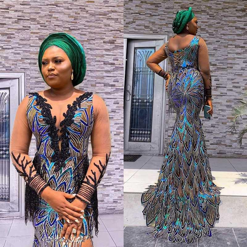 קטיפה אפריקאית תחרה בד באיכות גבוהה פאייטים גאנה תחרה בד למתוח קטיפה תחרה לניגרי ערב מסיבת שמלת לתפור A1766