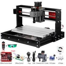 Cnc 3018 pro grbl diy laser cnc máquina 3 eixos pcb fresadora gravador roteador de madeira com controlador offline com er11