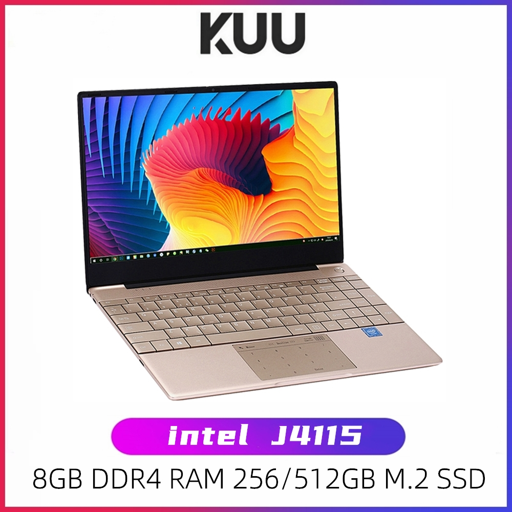KUU K2 For Intel Celeron J4115 14 1-inch IPS Screen All Metal Shell Office Notebook 8GB RAM 256GB 512GB SSD with type C laptop