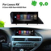 4GB RAM+64GB ROM Android 9.0 Car Radio GPS Navigation BT Head Unit for LEXUS RX270 RX300 RX330 RX350 Lexus RX 300 350 330 2010