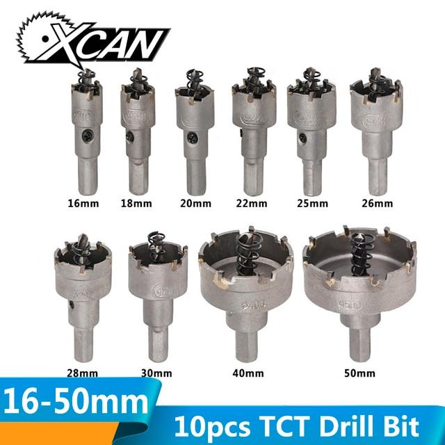 10//13PCS Carbide Tip TCT Hole Saw Cutter Drill Bit Set Steel Metal Alloy 16-53mm