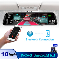 HGDO 4G 10 inch Car dvr Dual lens rearview mirror Android 8.1 2+16G ADAS GPS Navigation Full HD Video registrar recorder Dashca