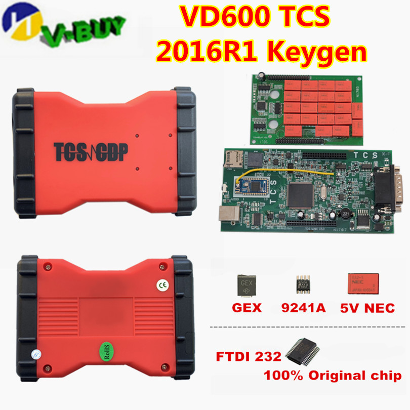 2019 New VCI 2015.3/2016R1 Keygen TCS OBDIICAT CDP With Bluetooth OBD2 Cable Diagnostic Tool VD600 TCS Cars Trucks