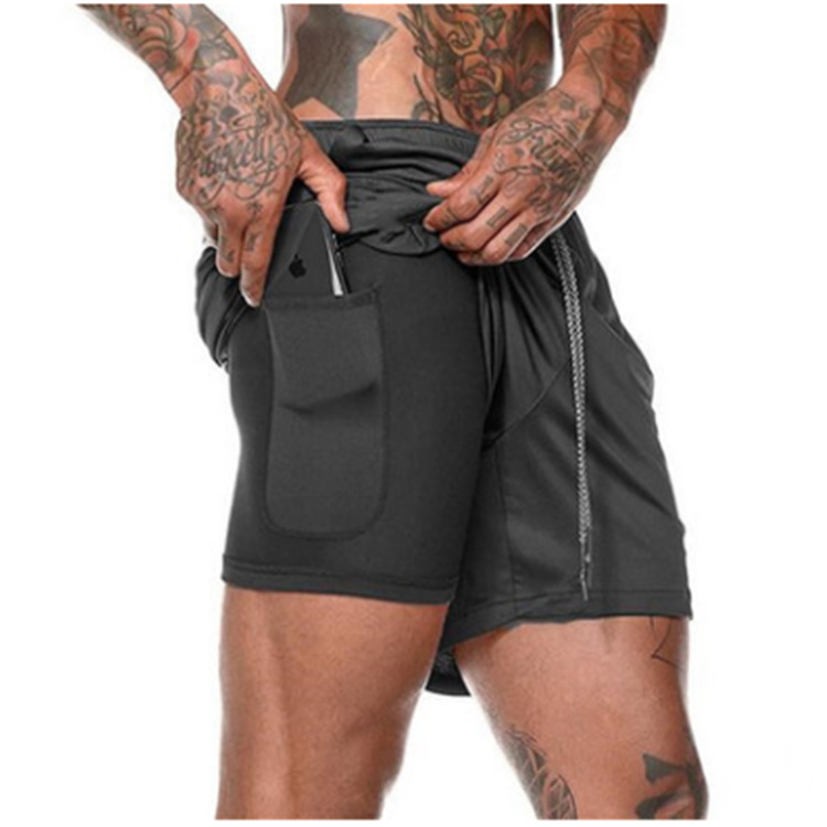 Hot Selling 8 Colors Men's Gym Sports Shorts Casual Quick-drying Running Trunks Male Five Pants Breathable Short Training Pants