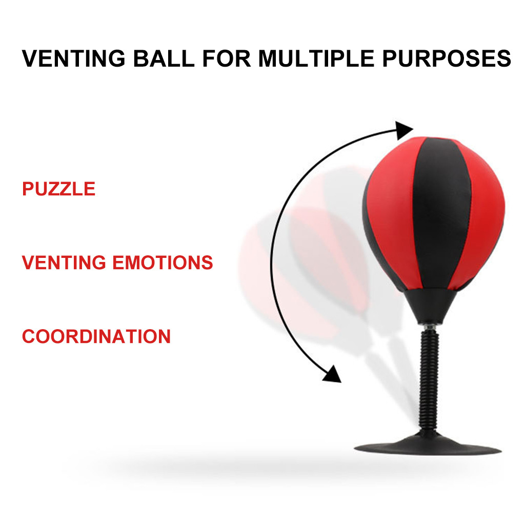 Punching Desktop Bag Ball Stress Boxing Speed Buster Pump Training Punch Q