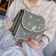 Diamante quadrado saco 2020 moda nova alta qualidade couro do plutônio designer bolsa de bloqueio corrente ombro mensageiro bolsas bolsas
