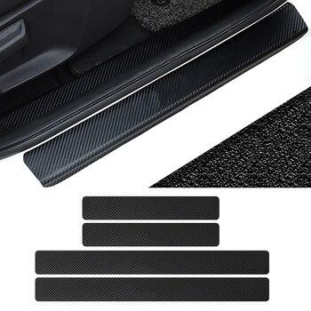 Estilo de coche 3D pegatinas para Chevrolet Cruze Aveo Peugeot 307 Peugeot 308 Seat Leon Mazda CX5 CX3 3 6 puerta Pedal umbral Accesorios