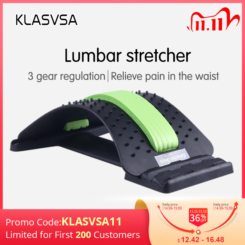KLASVSA Back Stretcher Massager Neck Waist Pain Relief Magic Support Massage Home Muscle Stimulator Relaxation Fitness Equipment|muscle stimulator|back stretcherpain relief - AliExpress