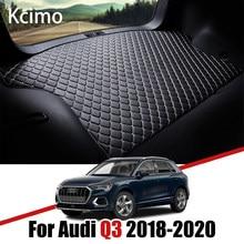Tapis de coffre de voiture en cuir, pour Audi Q3 F3 2018 2019 2020 5 portes Sportback, doublure de coffre