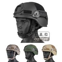 Emerson Tactical TC 2000 Helmet ACH ARC MICH 2000 Advanced EmersonGear Head Protective Shooting Hunting w/ NVG Shroud &Side Rail