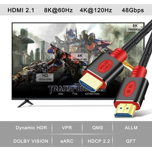 Image 2 - Shuliancable HDMI 2.1 Cable 8K@60Hz 4K@120Hz/60Hz ARC HDR  48Gbps HDCP2.2 For Splitter Switch PS4 TV Xbox Projector Computer