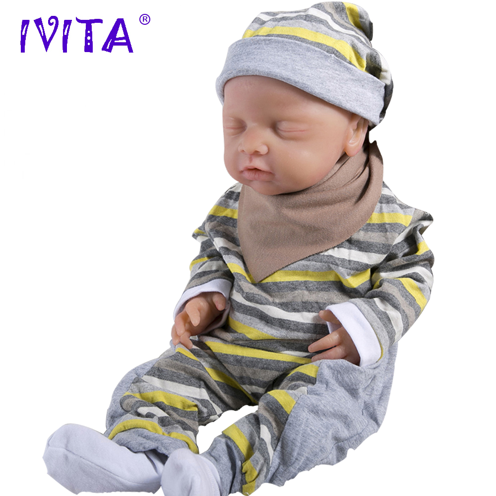 IVITA Reborn Baby Babies Dolls Alive Realistic Silicone 18inch Toys Eyes Soft US
