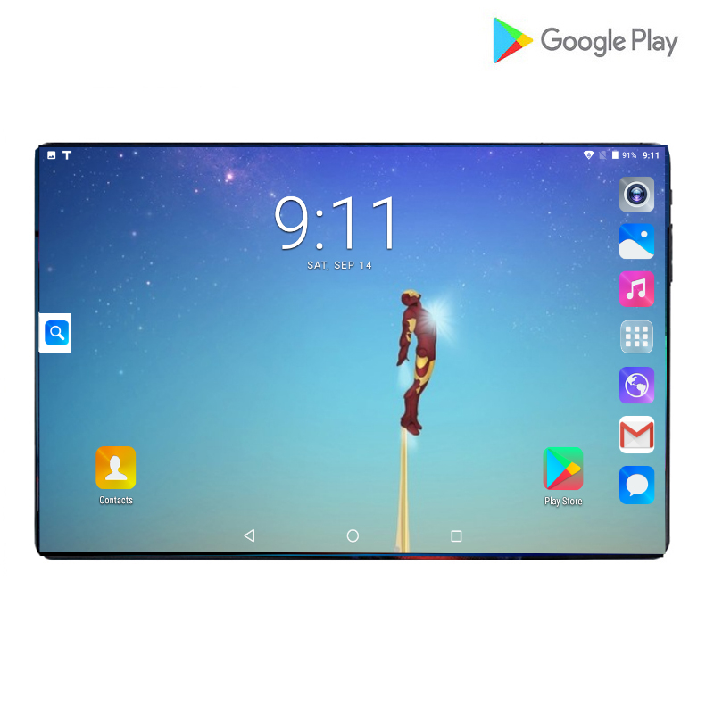 2019 Google 6GB RAM 64GB ROM 10 Inch Tablet Octa Core Dual SIM Card Youtube 2.5D IPS Large Screen Android 9.0 GPS Tablets