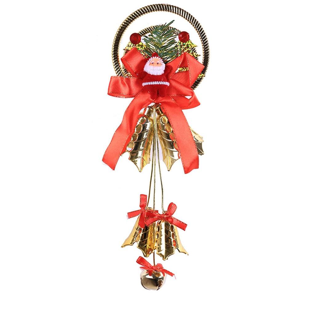 Рождественский колокольчик декоративная подвесная Елочная игрушка подвесное украшение домашний декор - Цвет: D