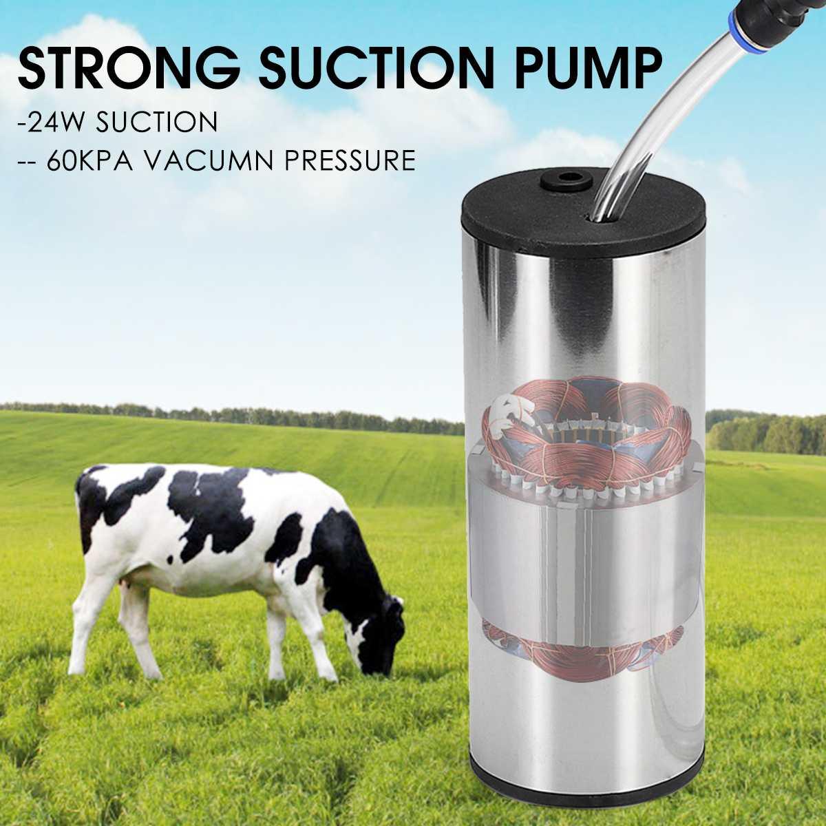 5L versión mejorada eléctrica vaca cabra oveja ordeño máquina doble bomba de vacío Cubo de acero inoxidable 220V máquinas de ordeño - 3