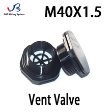 1Pcs M40*1.25 Nylon Waterproof Air Vent  Valve  Screw In Protective Vent Plug E-PTFE Plastic Breather Vent Valve