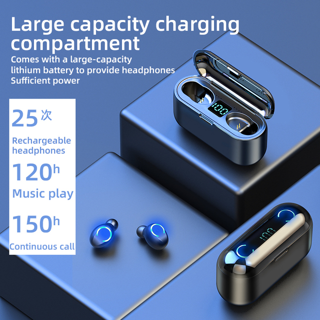 Mini TWS Bluetooth V5.0 auriculares inalámbricos auriculares 9D Hifi deportes impermeable inalámbrico Auriculares auriculares
